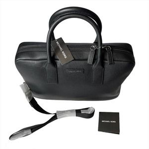 MICHAEL KORS $448 NWT Leather Black Briefcase